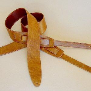 Durango model leather guitar straps, wrinkle-brown
