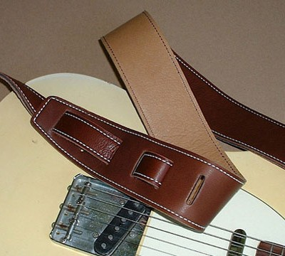 Durango-Suave model leather guitar strap, CognacTan