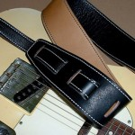 Durango-Suave Leather Guitar Strap, Black/Tan