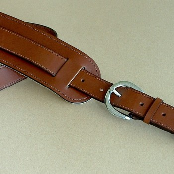 Original Plain Model leather guitar strap, brown
