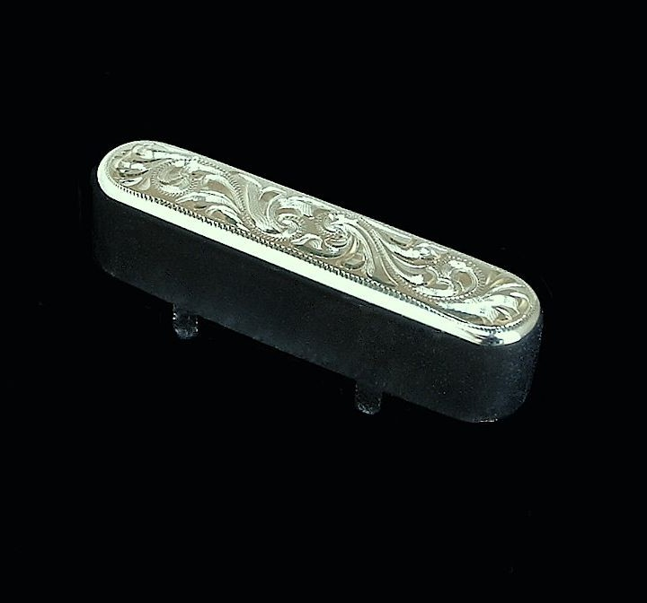 hand-engraved metal replacement Telecaster Tele front pickup cover