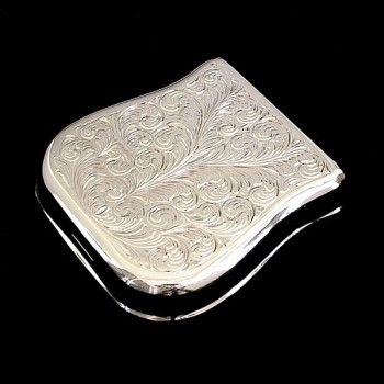 "Hand-engraved metal Telecaster replacement ""ash tray"" vintage bridge cover"