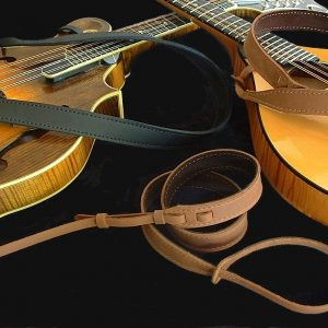 Mandolin Straps - Black and Brown