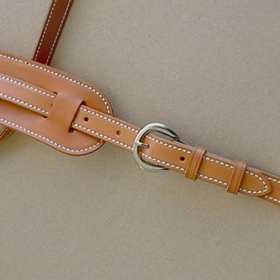 Vintage Plain model leather guitar strap, tan