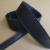 Durango-Suave Leather Guitar Strap, Black/Black