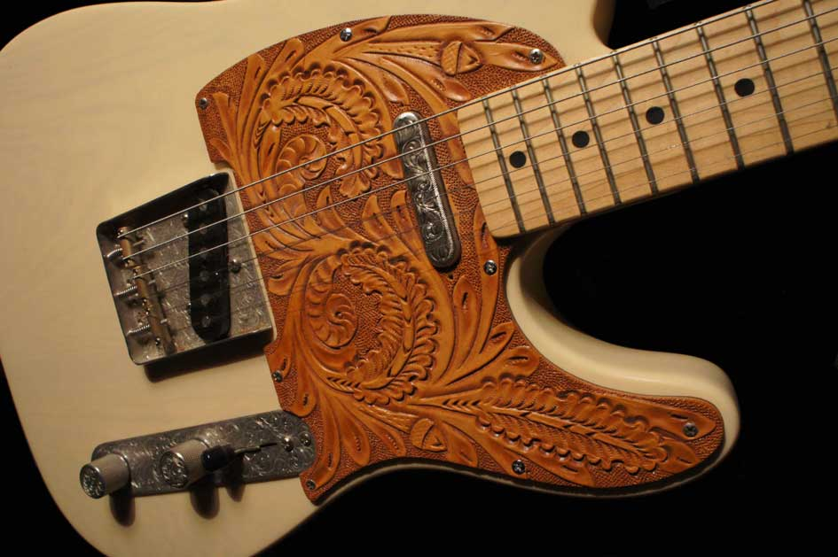 Hand Engraved Parts for Telecasters « El Dorado Leather ...